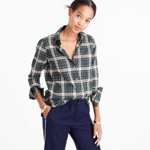 J. Crew Boy Shirt in Crinkled Plaid